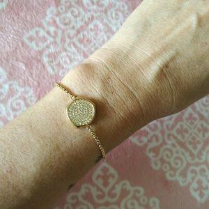 Michael Kors Pave Crystal Adjustable Pull Bracelet